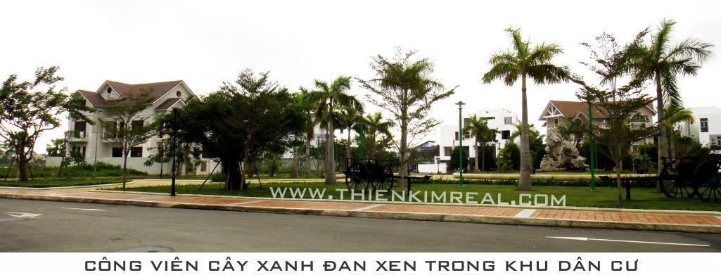 Công viên cây xanh trong khu biệt thự Đảo Xanh