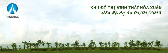 Tiến độ dự án khu đô thị Hòa Xuân